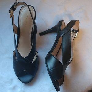 New Black Slingback Liz Claiborne Heels sz 8.5
